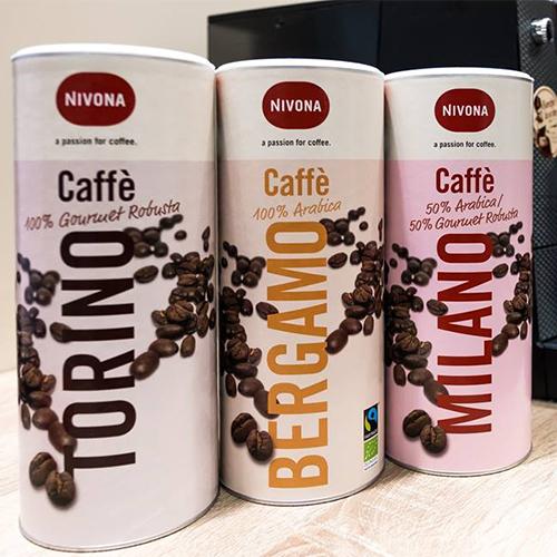 Drei Sorten Caffee Nivona
