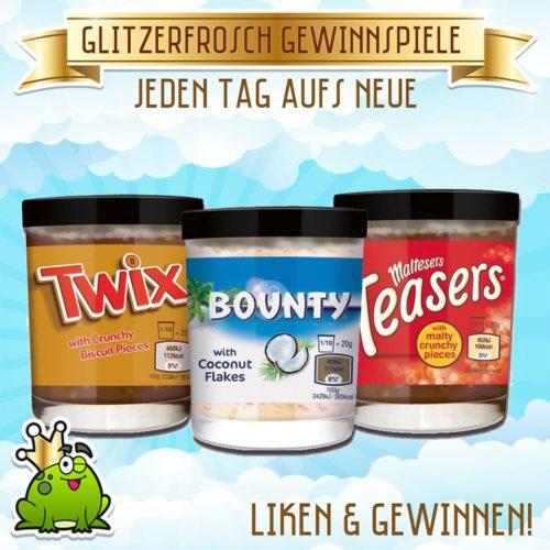 Twix, Bounty und Teasers