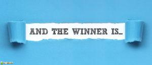 """Schriftzug: """"And The Winner Is..."""""""