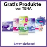 Verschiedene TENA Produkte abstauben