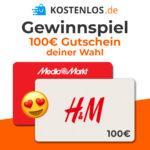 100€ H&M- oder MediaMarkt-Gutschein gewinnen